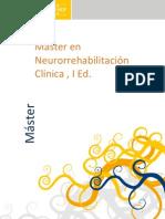 Máster en Neurorrehabilitación Clínica