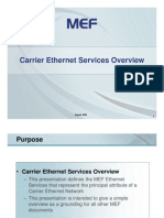 Carrier Ethernet Services Overview