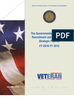 The Governmentwide Veterans' Recruitment and Employment Strategic Plan for FY 2010-FY 2012