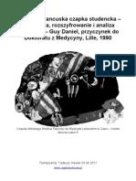Faluche – francuska czapka studencka – jej historia, rozszyfrowanie i analiza fenomenu – Guy Daniel, przyczynek do Doktoratu z Medycyny, Lille, 1990