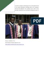 A Graduate Open a Consultant Firm Open in Zambia