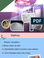 Excipient Sediaan Tablet