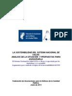 Sostenibilidad Del Sitema Nacional de Salud 2011