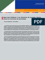 91 DPP R, Ideas Para Fortalecer a Los Direct Ores de Escuelas, Figuras Claves en El Proceso de Aprendizaje Mezzadra, Bilbaro, 2011