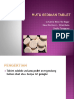 Mutu sediaan tablet