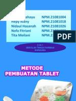Metode Pembuatan Tablet