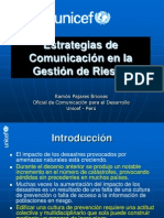 Estrategias de Comunicación en la Gestión de Riesgo