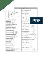 Fórmulas Geometria Analítica