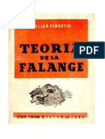 Teoria de La Falange Julian Pemartin Tercera Edicion 1948