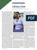 Mi trabajo no es político, es social (Entrevista Adriana Arias)