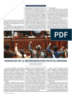 Paradojas de La Representacion Politica (Felix Patzzi)