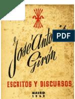 Jose Antonio Giron Escritos y Discursos