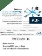 Cloud Security Pain Points