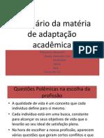 Seminário da matéria de adaptação acadêmica