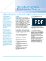 Active Directory Troubleshooting Datasheet