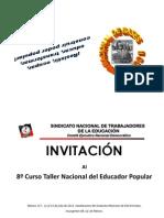 INVITACIÓN TAEDPOP8