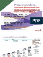 Porta Folio de Productos Xerox 2011