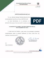 Certificacion 2010-2011-46 rio Primer y Segundo Semestre 2011-2012