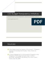 Budget Transparency Initiatives PPT Sept 2010