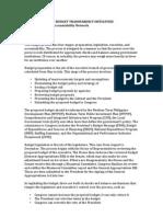 Budget Transparency Initiatives Sept 2010