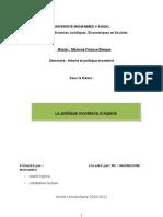Rapport Politique Monétaire en Algérie