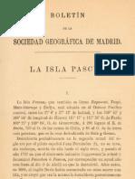 Isla de Pascua (1883) Sociedad Geografica de Madrid.