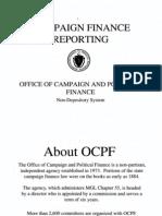 Massachusetts Campaign Finance Reporting 2011
