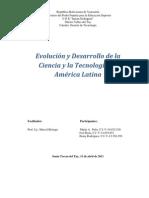 Evolución y desarrollo de la ciencia y la tecnología en America Latina