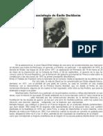 La sociología de Émile Durkheim