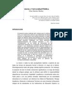 Tutoria y Universidad Publica