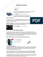 WiFi Router Materials