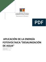 Sistema de desalinización de agua