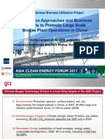 Bernhard Raninger - Large Scale Biogas Plant Operations in China