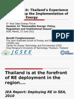 Bundit Fungtammasan - Thailand's Experience