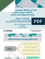 Dilip Limaye - The Emerging Model of the Public Super ESCO