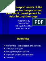 Jitendra Shah - Urban Transport Needs of the Poor