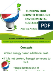 Gabinete Reyes Redentor - Funding Our Growth Through Environmental Sustainability