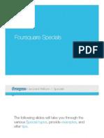 Foursquare Specials Overview