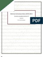 Informe de lectoescritura 2010