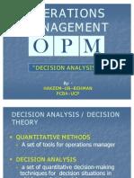 3. Decision Analysis
