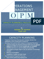 6. Capacity Planning Facilities Layout
