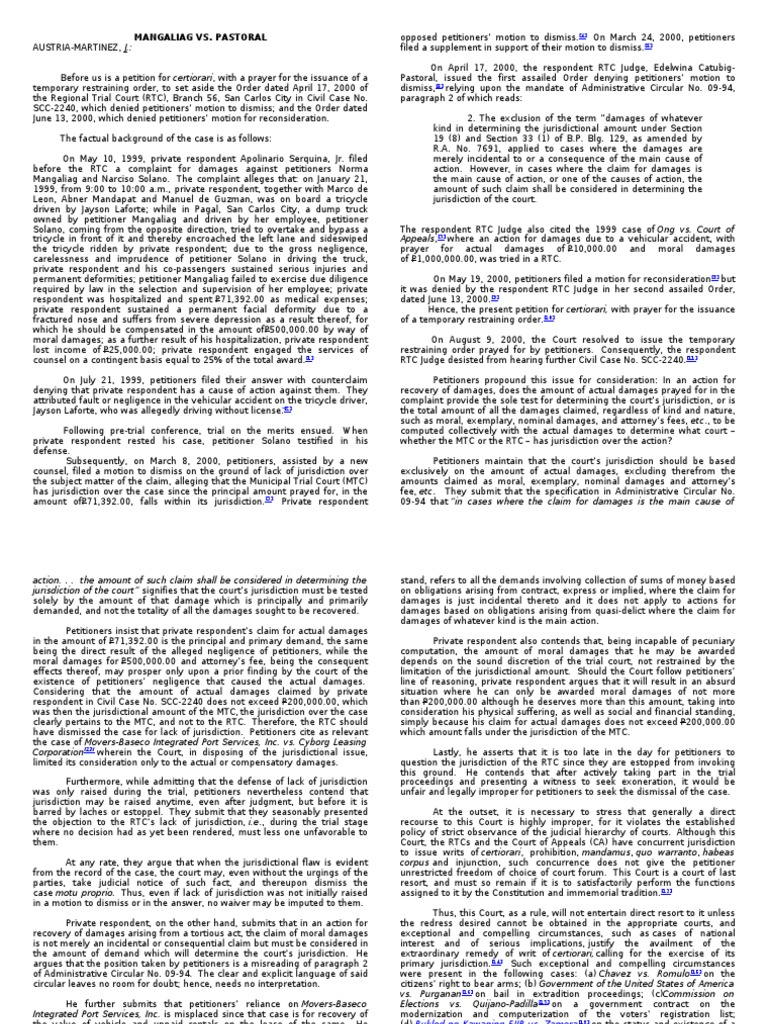 Civpro Judge Wagan 2nd Set | Lawsuit | Complaint