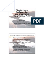 Climate change, flood protection and rehabilitation along the river Rhine