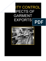 Quality Control Aspects of Garment Exports