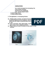 Application of Increasing & Decreasing Friction