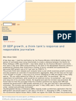 Of GDP Growth, A Think-tank's Response and Responsible Journalism