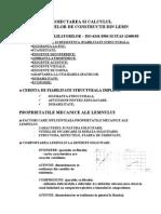 Proiectarea Si Calculul Lemnului 1