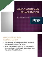 5. Mine Closure and Rehabilitation