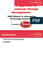 Tysons Org Change Approach - WIT 2009 POST