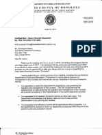 Letter From Director of Parks in Response to Demand